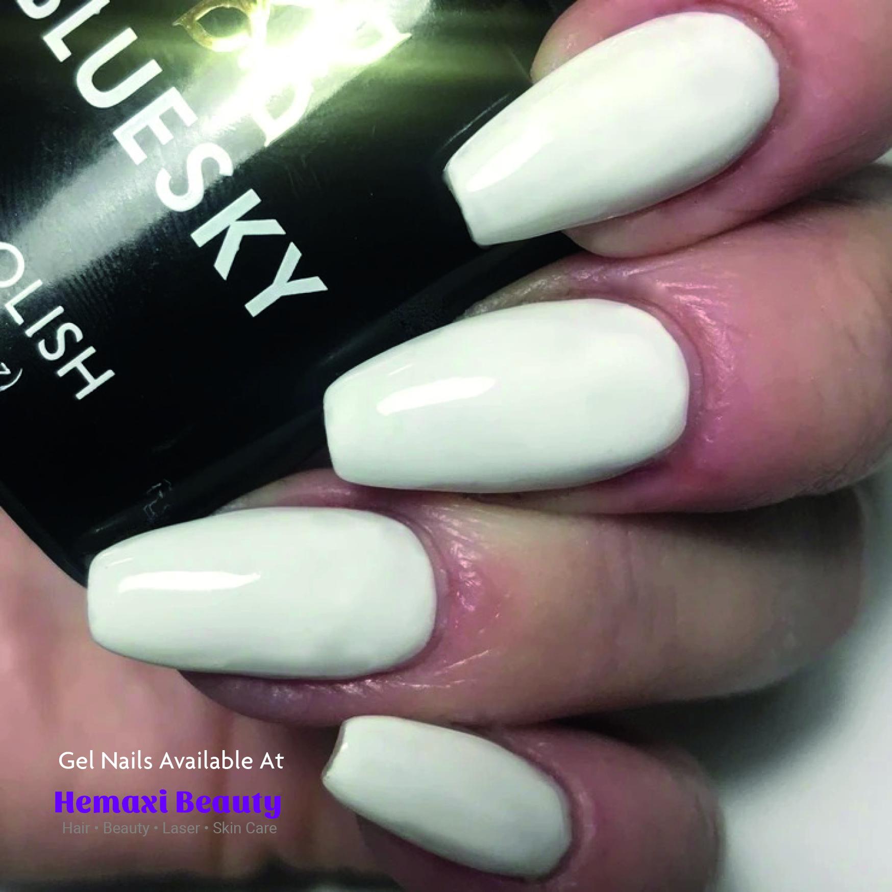 White Gel Nail Birmingham Salon